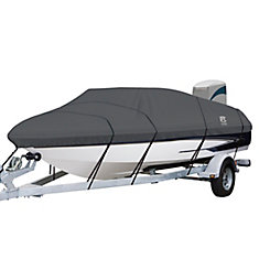 StormPro Heavy Duty Boat Cover with Support Pole, Fits Boats 17 ft. - 19 ft.L x 102 inchW