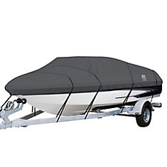StormPro Heavy Duty Boat Cover with Support Pole, Fits Boats 22 ft. - 24 ft.L x 116 inchW