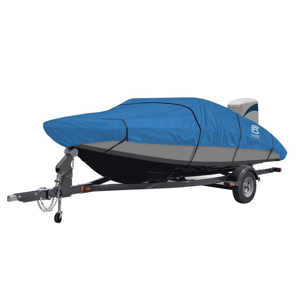 Classic Accessories Stellex All Seasons Boat Cover, Fits Boats 17 ft. - 19 ft. L x 102 inch W