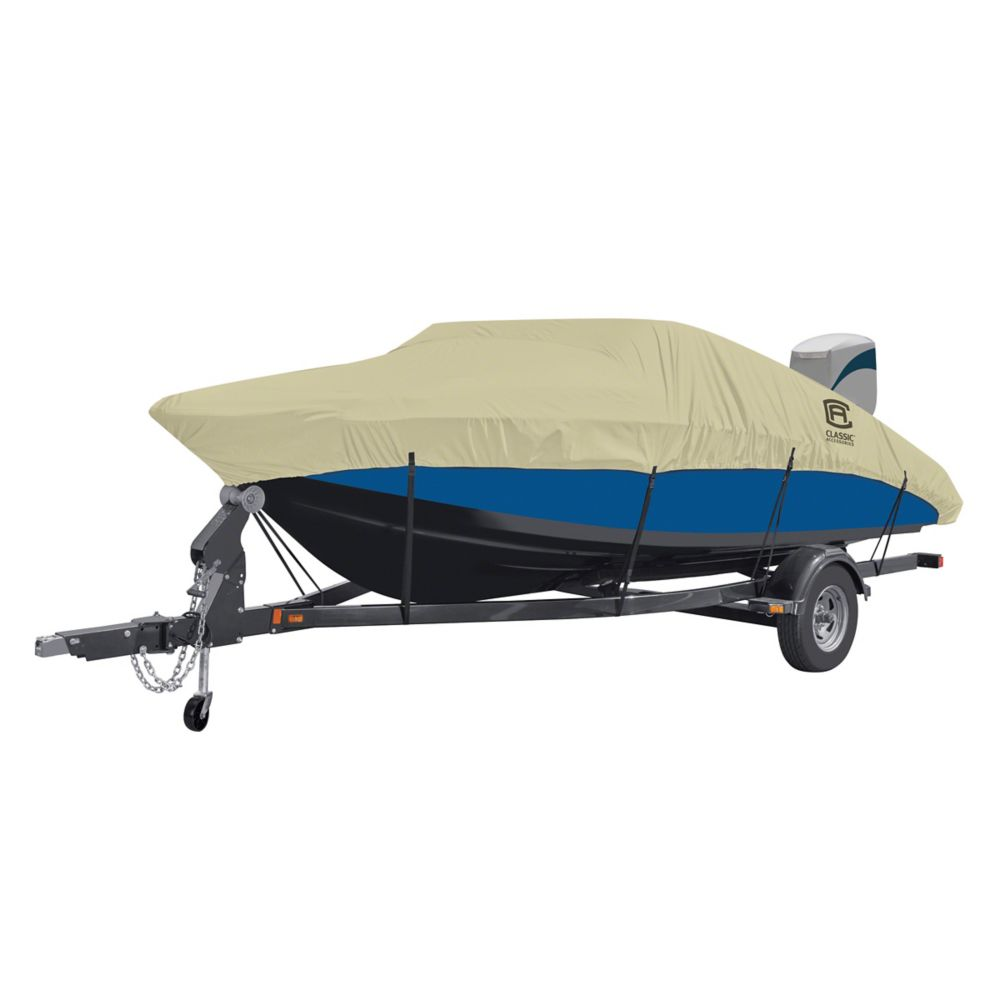 Classic Accessories DryGuard Waterproof Boat Cover, Fits Boats 20 ft. - 22 ft. L x 106 inch W