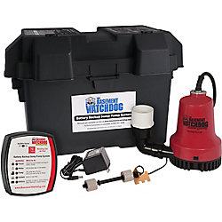 Basement Watchdog 1/4 HP Emergency Battery Backup Automatic Sump Pump