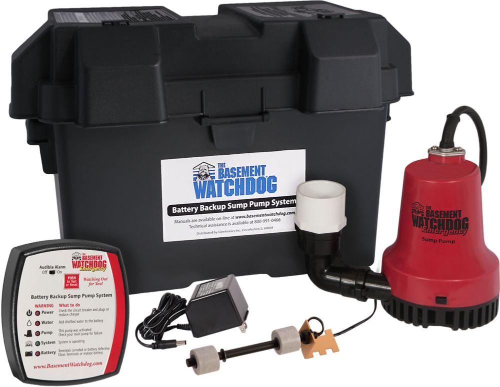 1/4 Batterie HP urgence de sauvegarde pompe de puisard