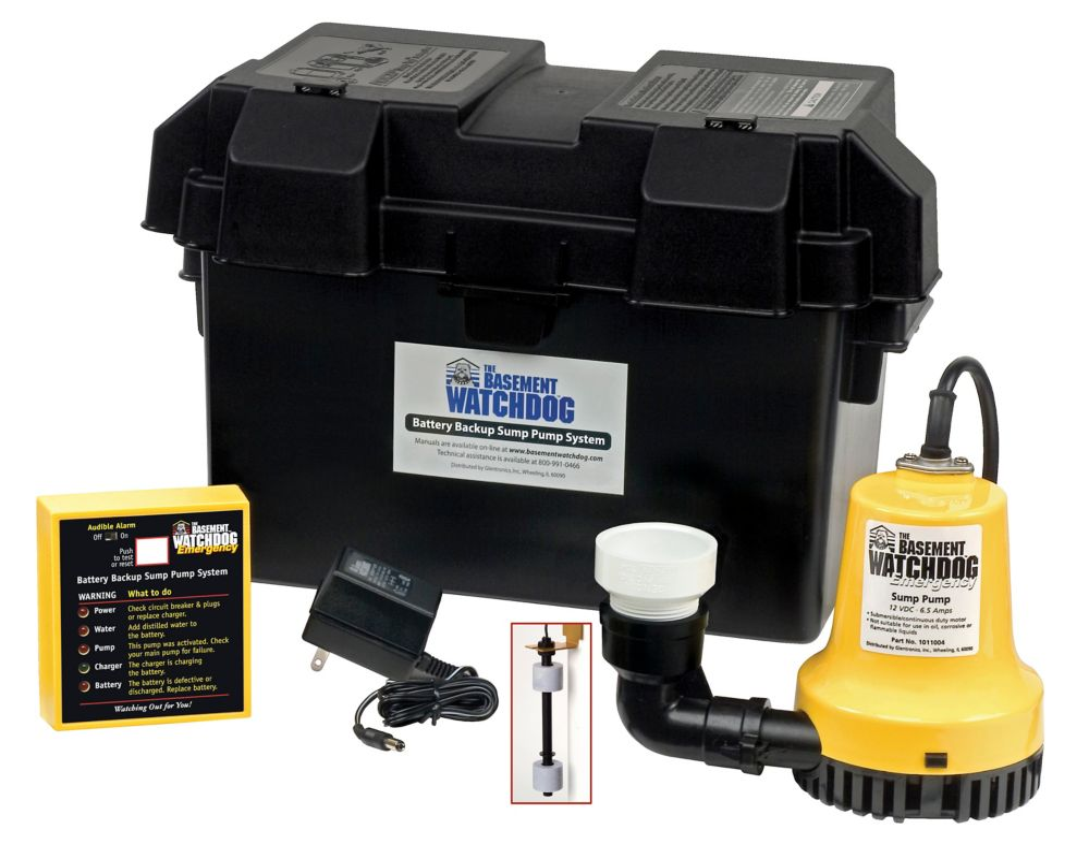 1/4 HP Emergency Battery Backup Sump Pump
