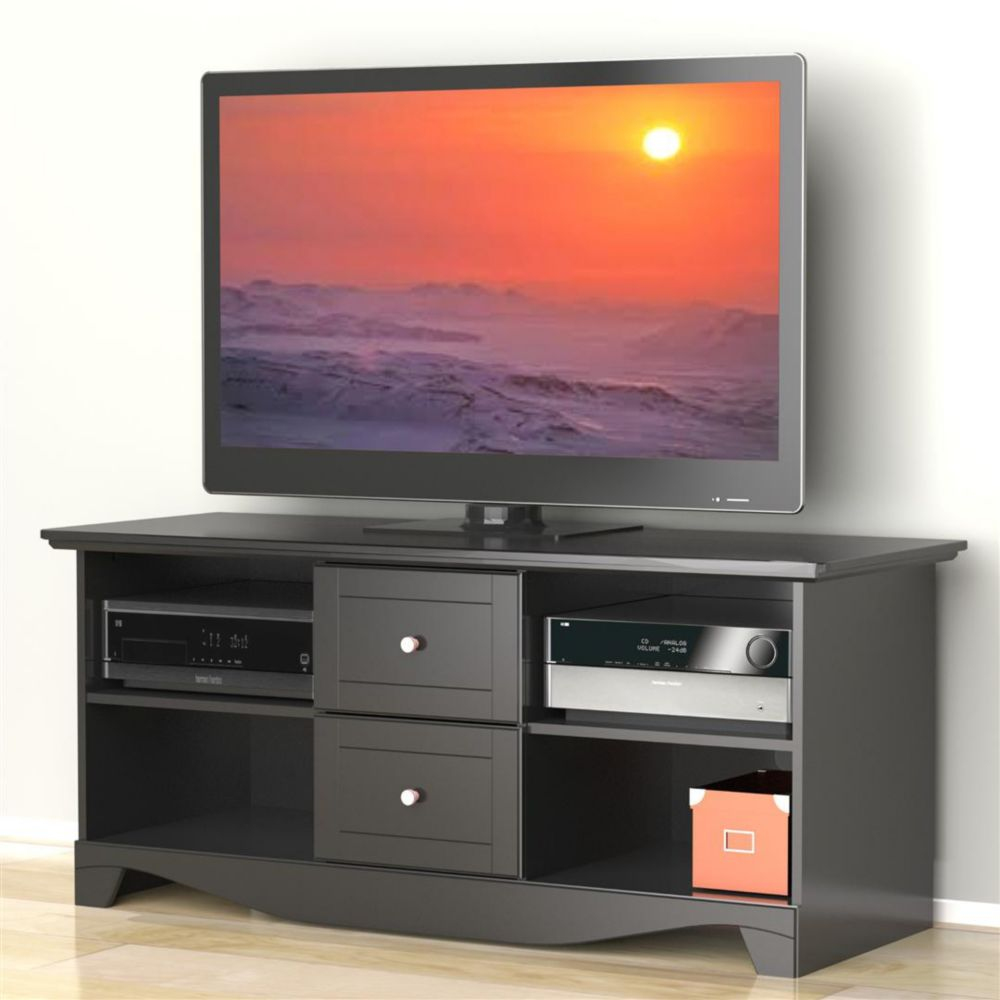 Pinnacle 56-inches TV Stand - Black 100806 Canada Discount