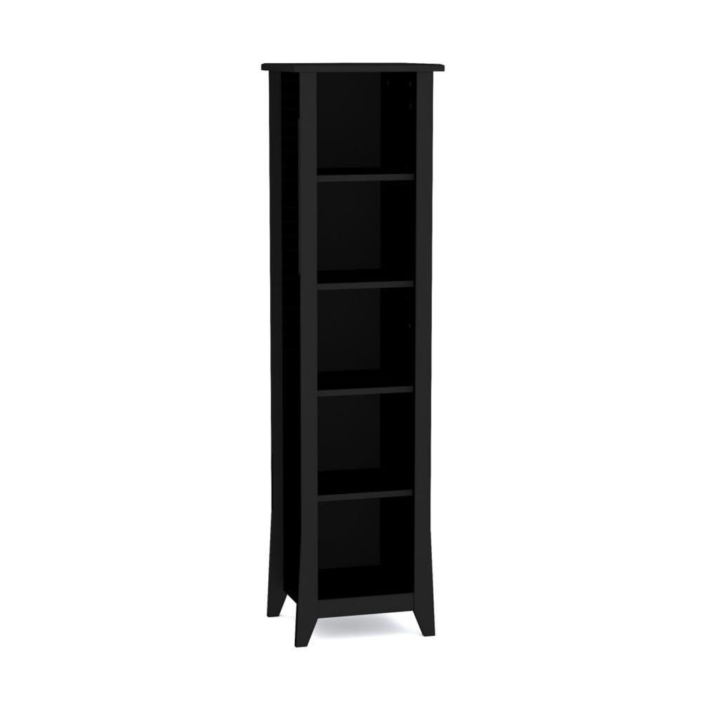 Nexera 15.75-inch x 60-inch x 13.75-inch 4-Shelf Solid Wood Bookcase in Black