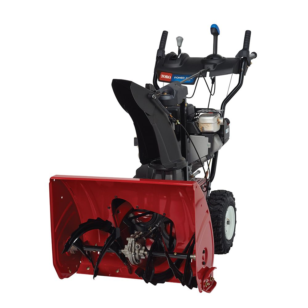 Powerful Handheld Electric Snow Blowers : Power max oe two stage electric start gas snow blower