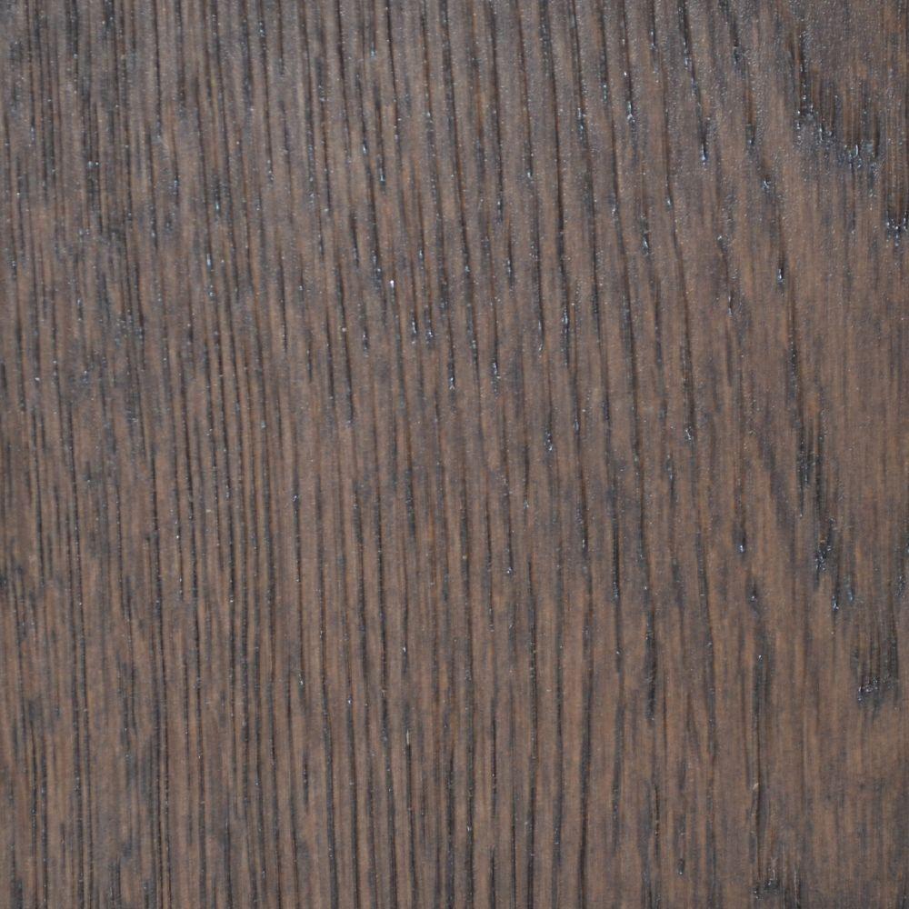 Échantillion de bois franc contrecollé  chêne blanc  Taupe brossé