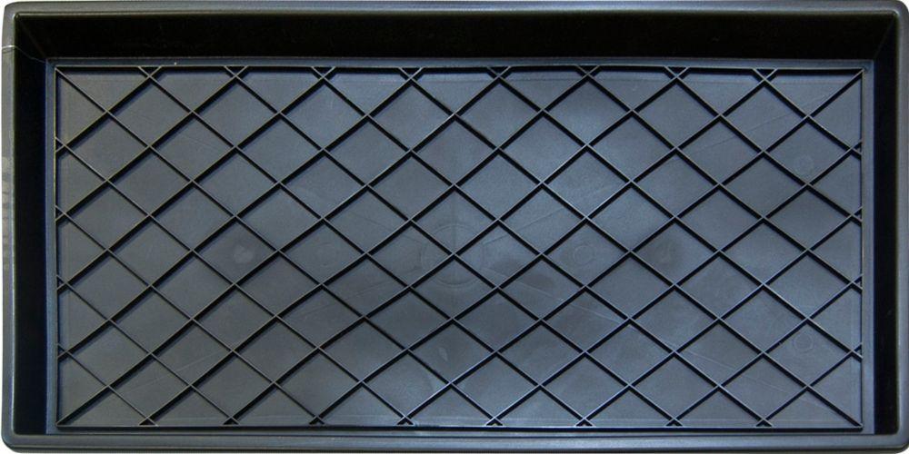 Regal Black 1 ft. 2-inch x 2 ft. 4-inch Indoor Rectangular Boot Tray