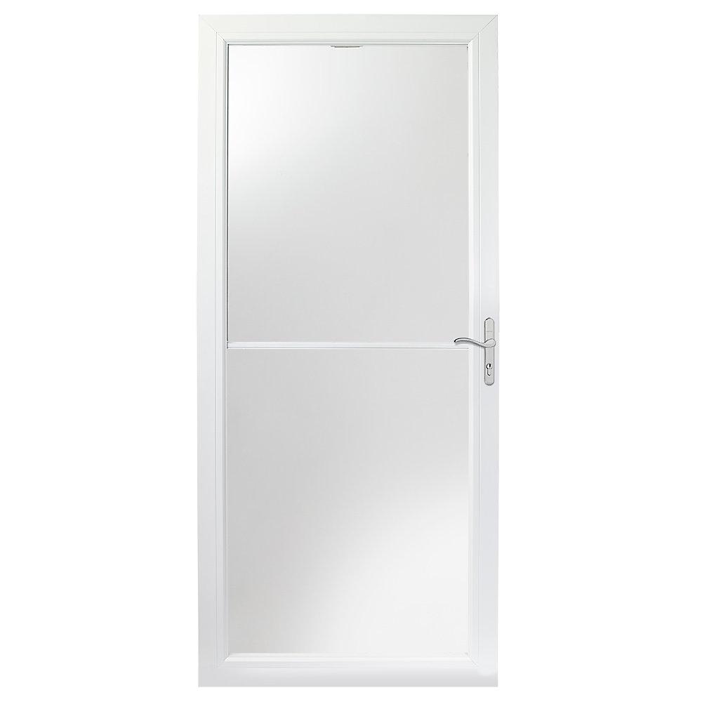 Andersen 2500 Series 32 Inch White Self Storing Storm Door