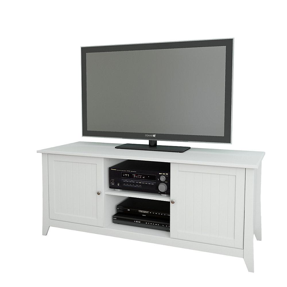 Meuble téléviseur Vice Versa, 58po x 24,5po x 21po, blanc
