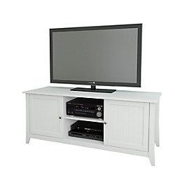Nexera Vice Versa 58-inch x 24.5-inch x 21-inch TV Stand in White