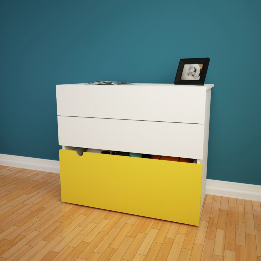 Taxi 2-Drawer Chest with Mobile Trunk