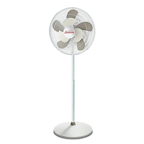 Ventilateur sur socle oscillant de 16 po 2Cool (blanc)