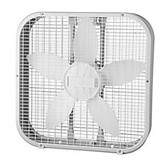 20 Inch White Box Fan