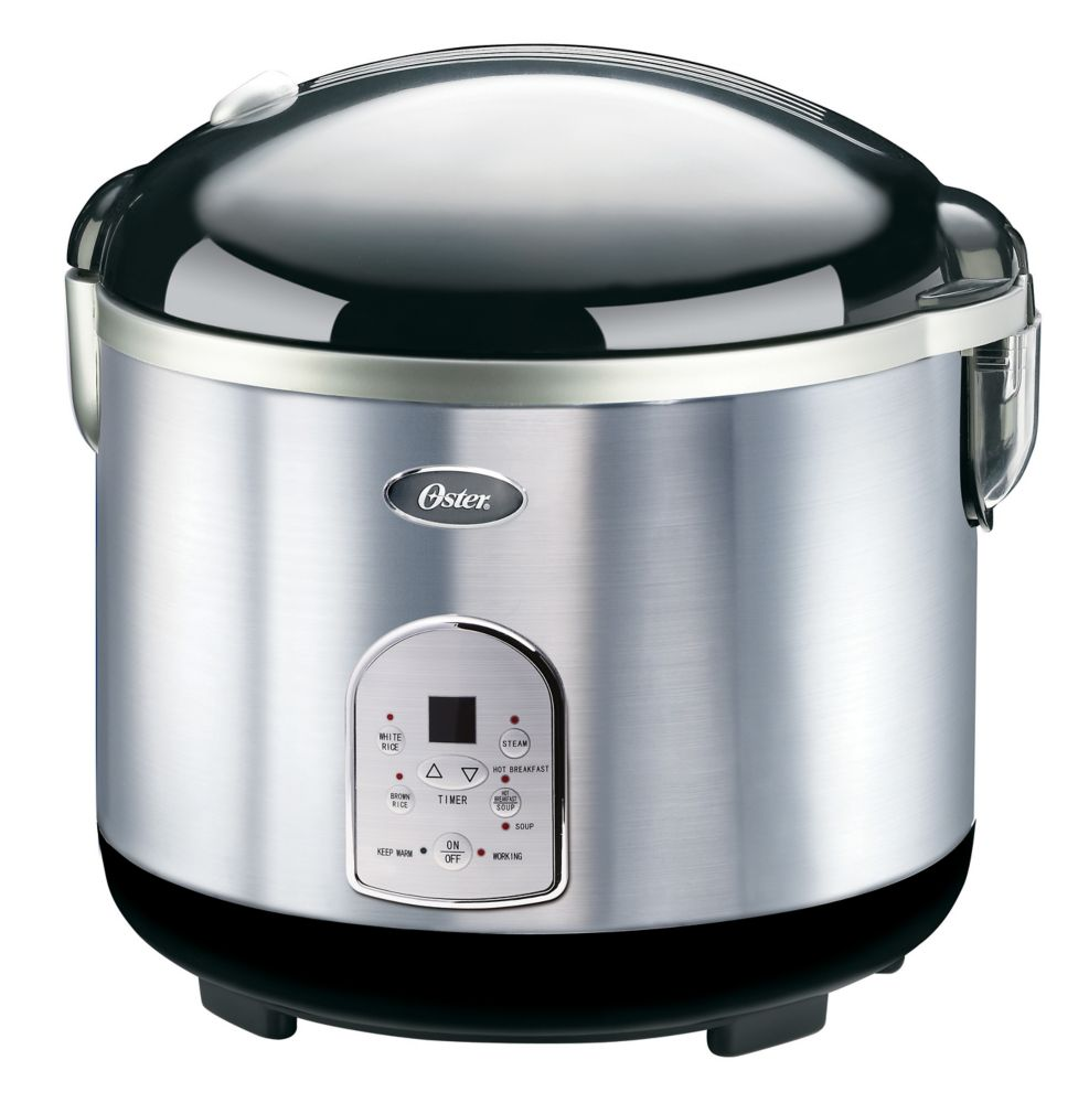 Oster 20 Cup Stainless Steel Digital Rice Cooker The Home Depot Canada