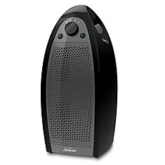 Air Purifier Mini Tower with 99% Contaminant Removal, Black & Grey