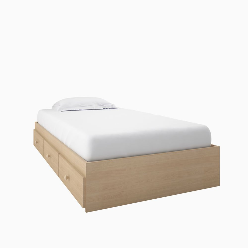 Nexera Alegria Twin Size 3-Drawer Storage Bed