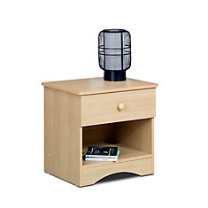 Alegria 21-inch x 20.63-inch x 17-inch 1-Drawer Nightstand in Maple