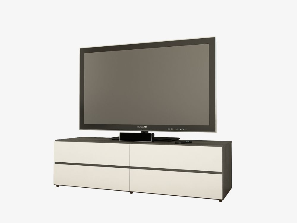 Allure 60-inches TV Stand with 2 Drop-Down Doors and 2 Drawers