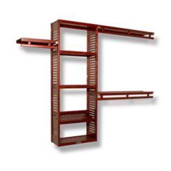John Louis Home Simplicity 12 Inch Deep Closet System Red Mahogany
