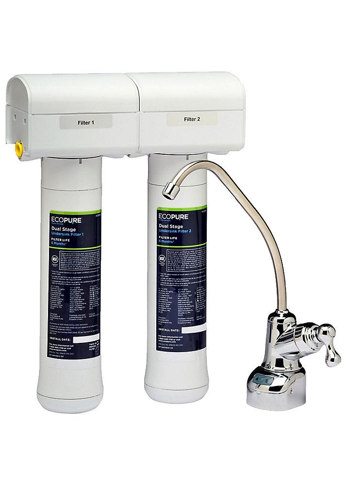 Dual Stage Undersink Filtration System