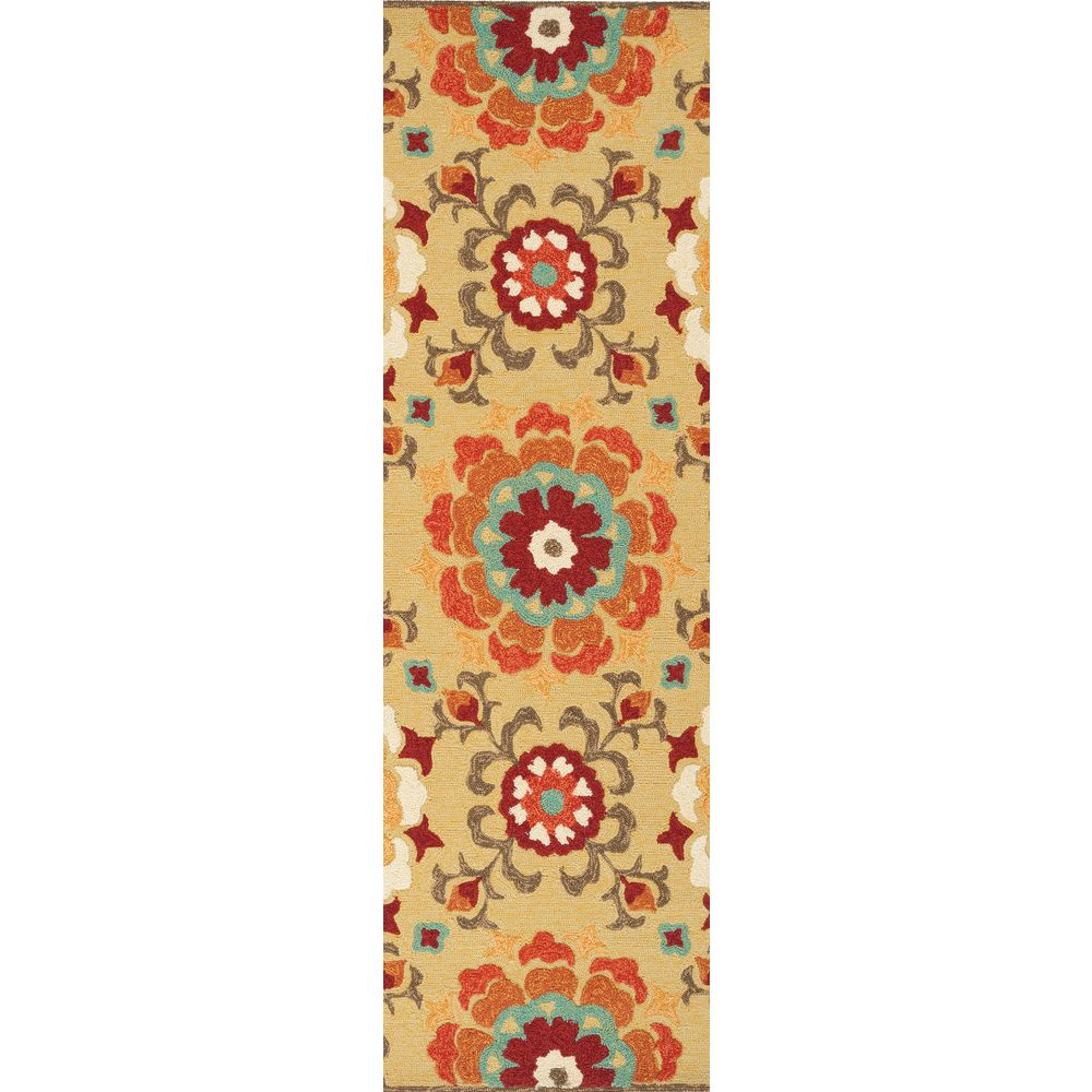 Artistic Weavers Ayolas Yellow 2 ft. 6-inch x 8 ft. Indoor/Outdoor Transitional Runner