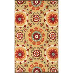 Artistic Weavers Tapis de passage d'intérieur/extérieur, 5 pi x 7 pi 6 po, style transitionnel, rectangulaire, jaune Ayolas