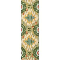 Artistic Weavers Estigarbia Green 2 ft. 6-inch x 8 ft. Indoor/Outdoor Transitional Runner