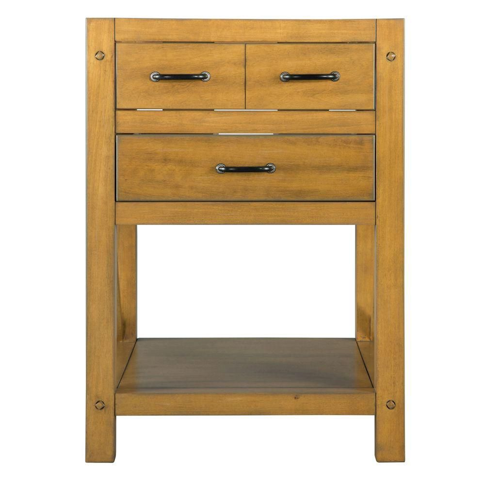 Avondale 24-Inch  Vanity Cabinet in Weathered Pine