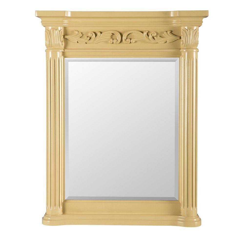 Estates blanc antique 28 po miroir