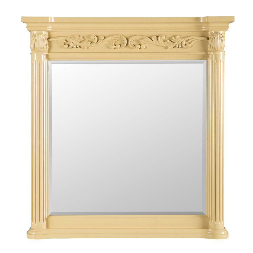 Foremost Estates 38-inch L x 36-inch W Wall Mirror in Antique White