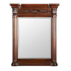 Foremost Estates acajou riche 28 po miroir