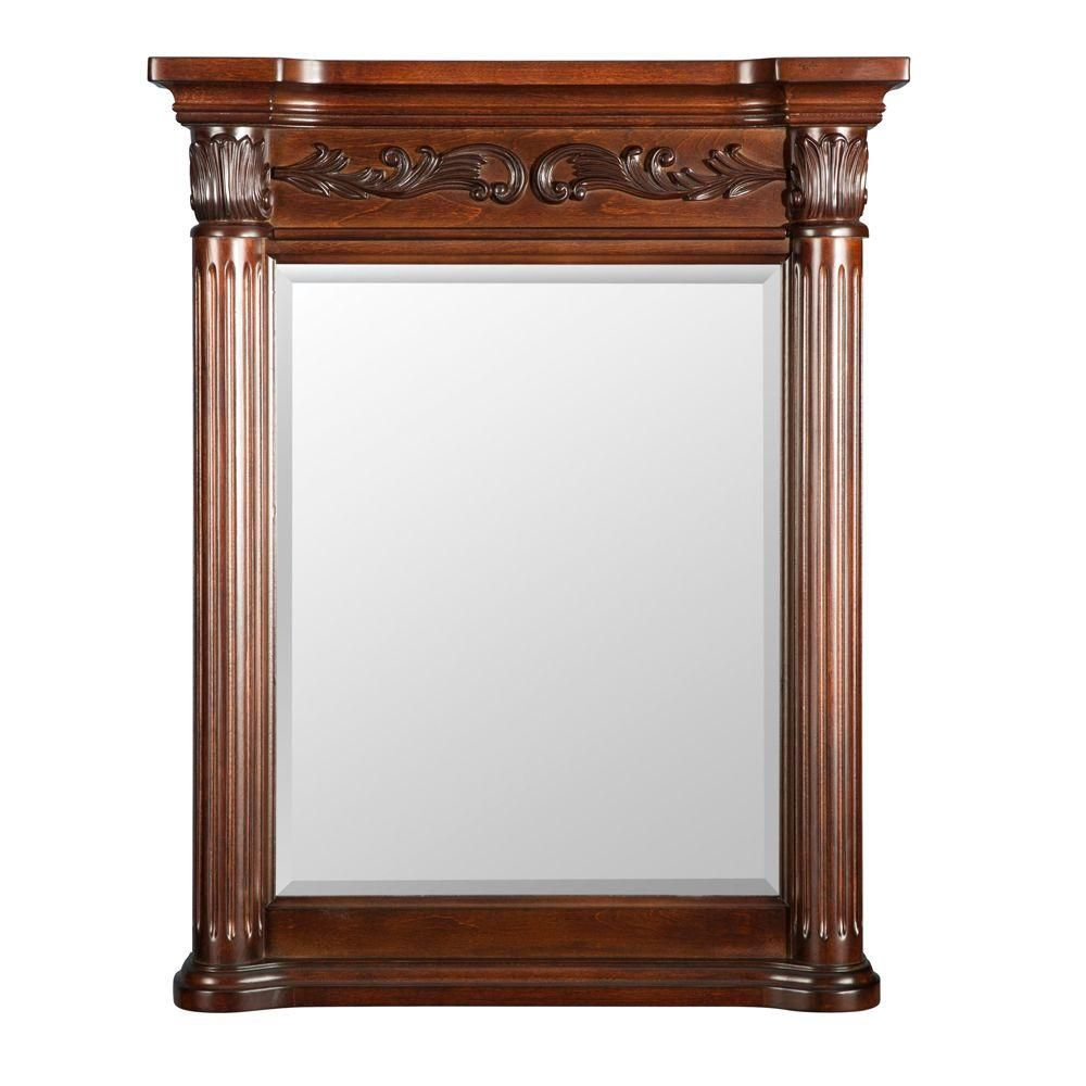 thd 30 inch x 42 inch beveled edge wall mirror the home depot canada. Black Bedroom Furniture Sets. Home Design Ideas