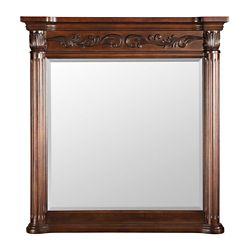 Foremost Estates 38-inch L x 36-inch W Wall Mirror in Rich Mahogany