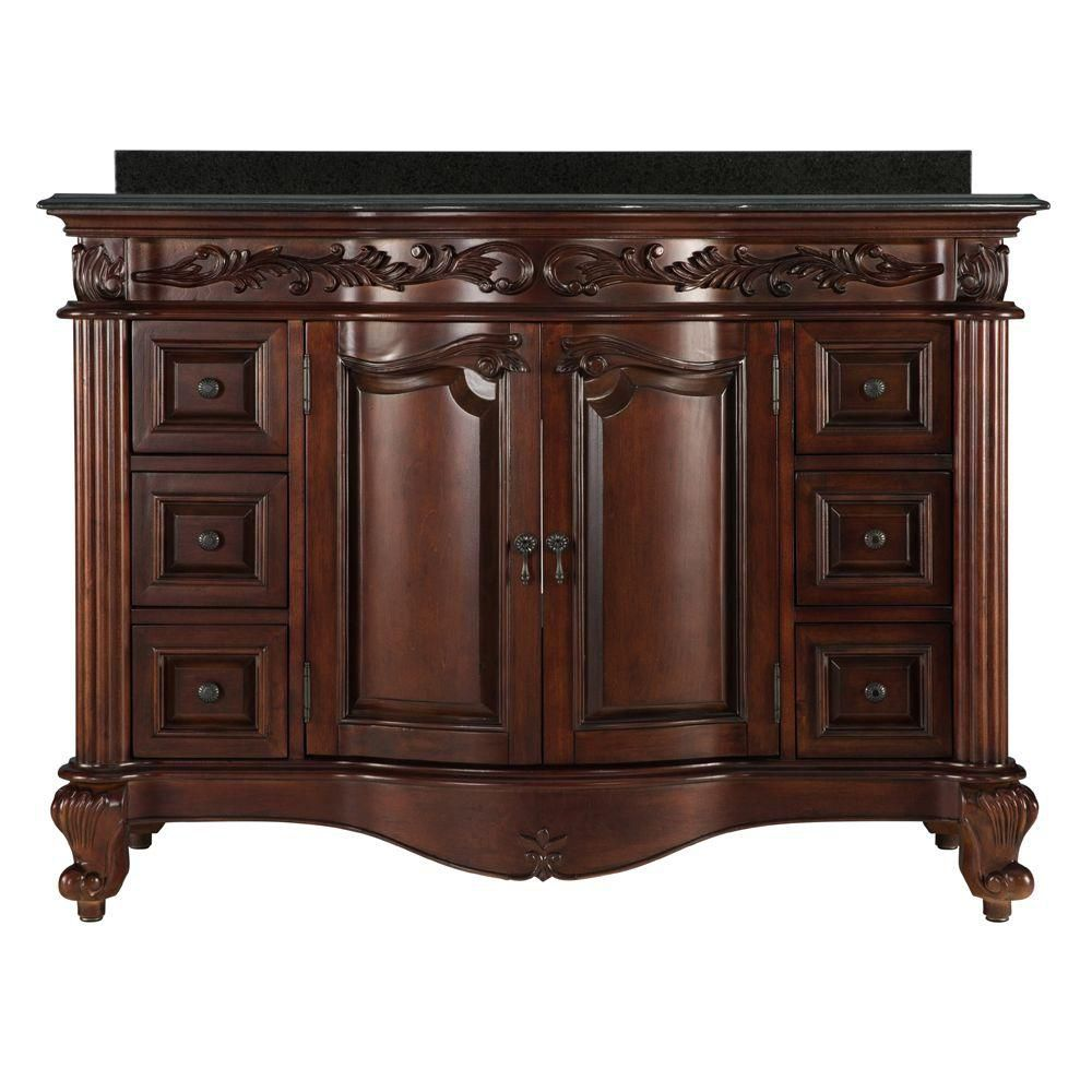 foremost estates acajou riche 48 po ensemble meuble lavabo. Black Bedroom Furniture Sets. Home Design Ideas