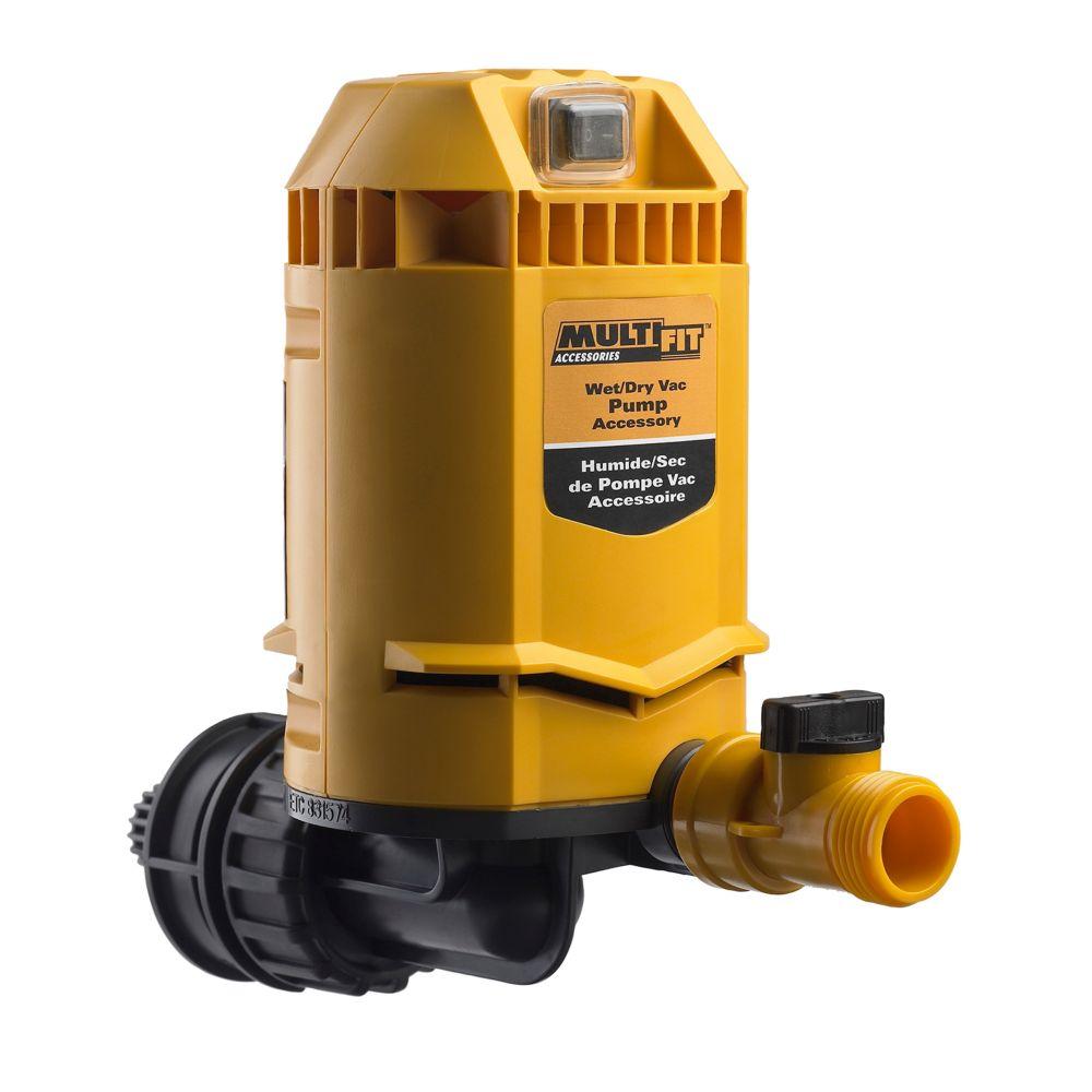 Pompe universelle pour aspirateurs secs/humides