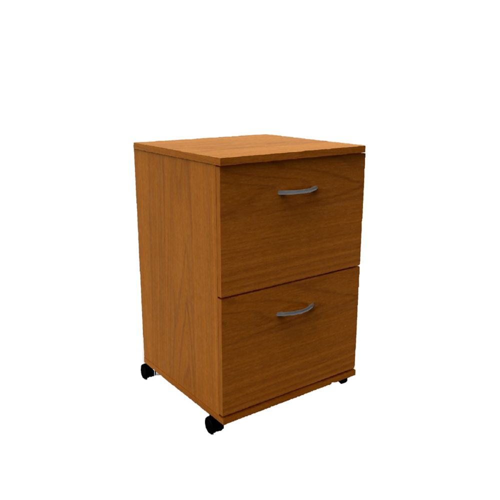 Essentials 18.63-inch x 26.63-inch x 17.63-inch 2-Drawer Manufactured Wood Filing Cabinet in Brown