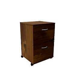 Nexera Essentials 18.63-inch x 26.63-inch x 17.63-inch 2-Drawer Manufactured Wood Filing Cabinet in Brown
