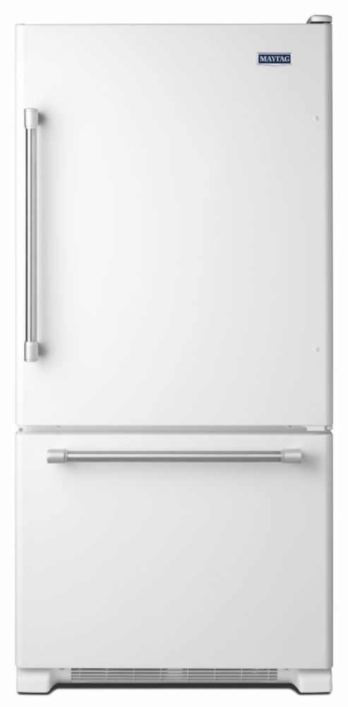 18.7 cu. ft. Refrigerator with Bottom Mount Freezer in White