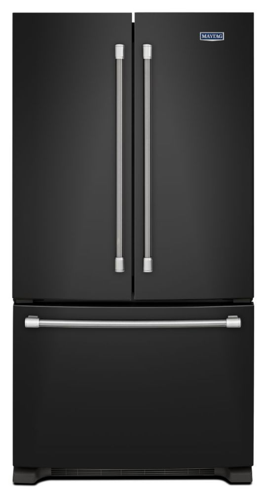 25.2 cu. ft. 3-Door French Door Refrigerator in Black