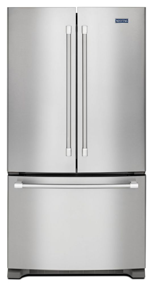 Maytag 25 2 Cu Ft Three Door French Door Refrigerator In