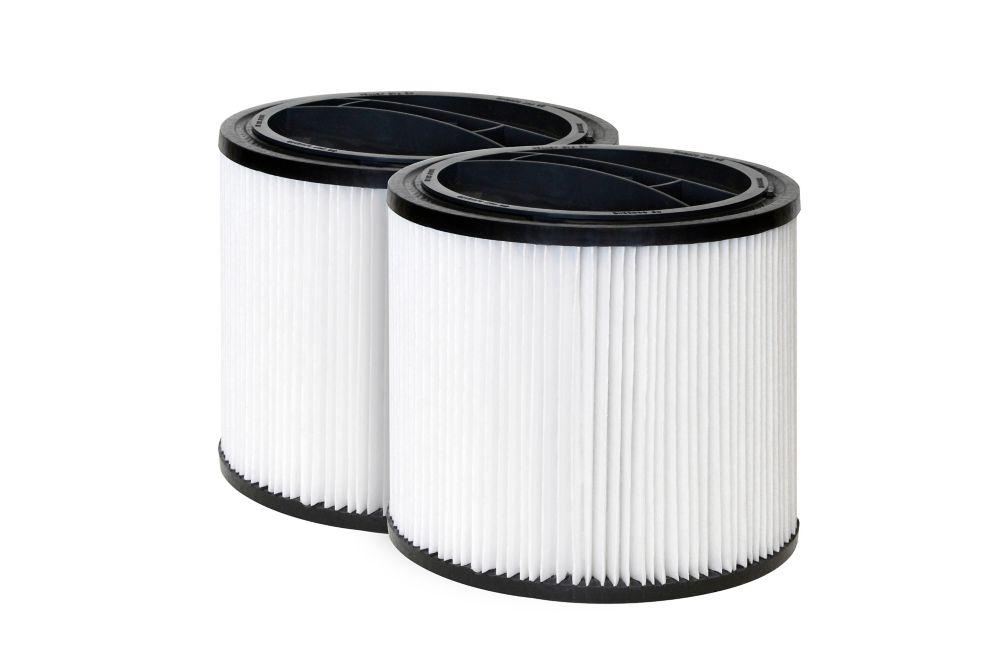 Ensemble de 2 cartouches filtrantes standard de rechange pour aspirateur pour déchets humides/sec...