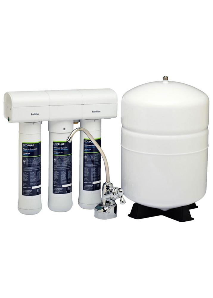 Système de filtration d'eau potable à osmose inverse Premium Defense de Glacier Bay