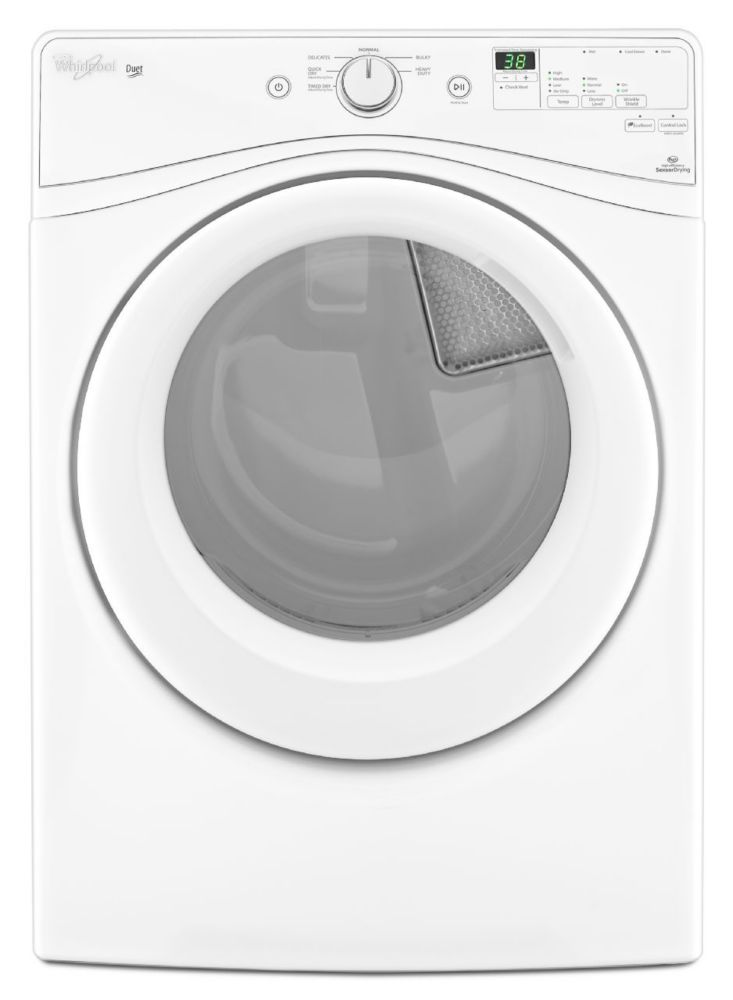 Duet<sup>®</sup> 7.3 cu. ft. HE Dryer with Advanced Moisture Sensing in White