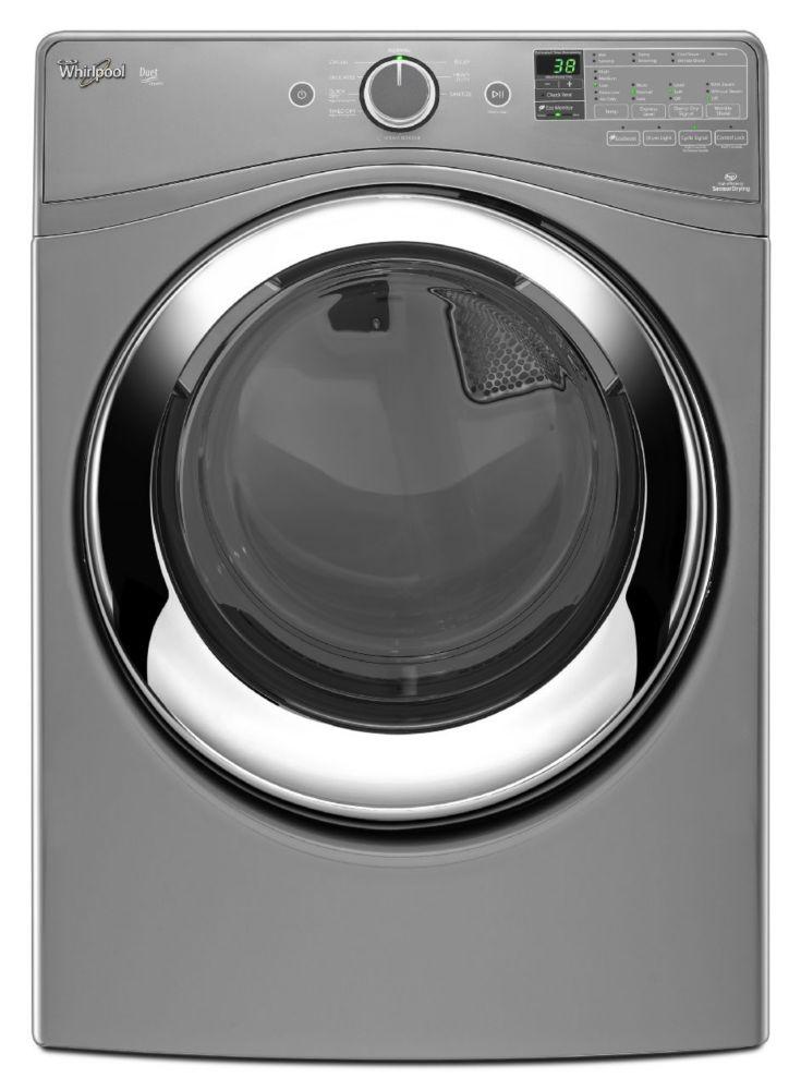 Sécheuse whirlpool duet vapeur de 7,4 pi cu dotée de l'option de prévention des faux plis wrinkle...
