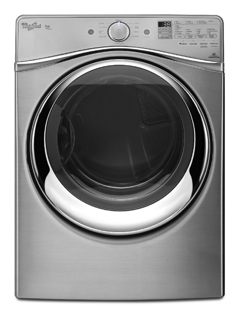 7.3 cu. ft. Duet<sup>®</sup> Dryer with Steam Refresh Cycle in Diamond Steel