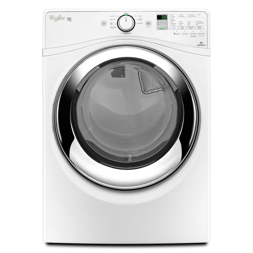 Duet<sup>®</sup> 7.3 cu. ft. Gas Dryer with Wrinkle Shield� Plus option with Steam in White