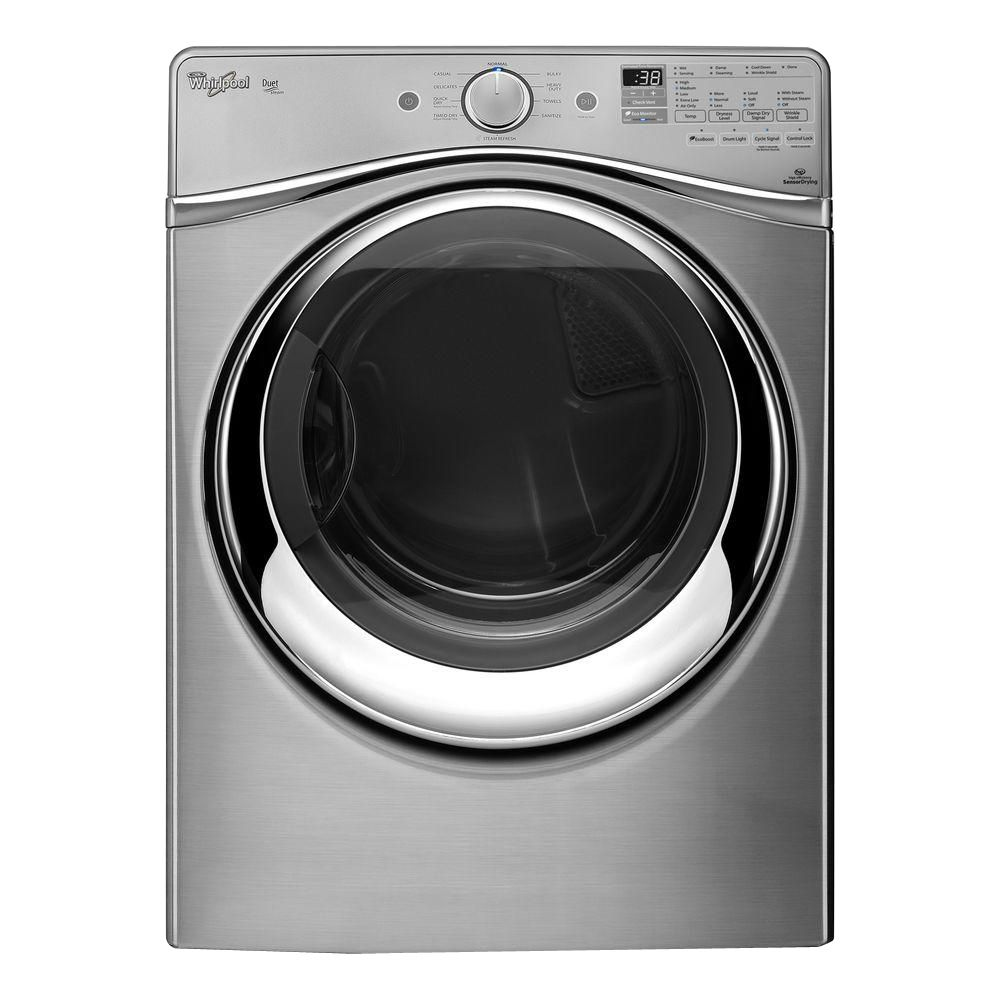 Duet<sup>®</sup> 7.3 cu. ft. Gas Dryer with Steam Refresh Cycle in Stainless Steel