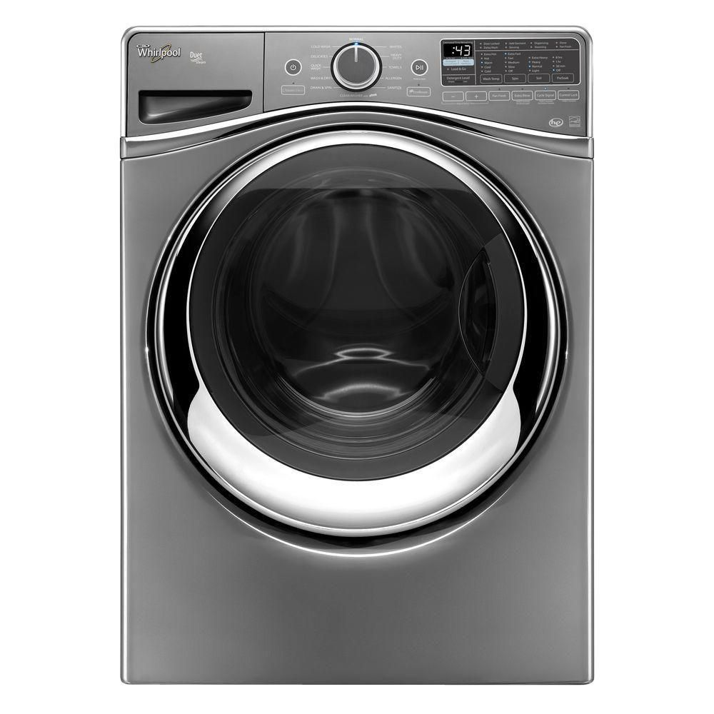 Duet<sup>®</sup> 5.2 cu. ft. Steam Front Load Washer with Load and Go System in Chrome Shadow