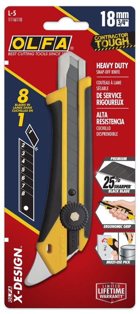 Couteau Tout Usage A Prise En Caoutchouc Et Fibre De Verre 18 mm